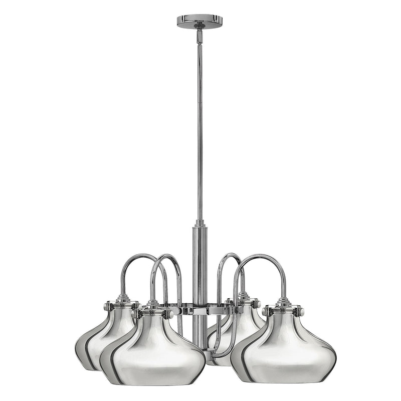 Hinkely Lighting Lighting Congress Metal Shade Chandelier Chrome by Hinkely Lighting
