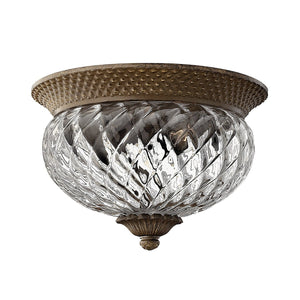 Hinkely Lighting Lighting Plantation 2lt Small Flush Pearl Bronze by Hinkely Lighting