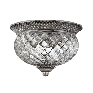 Hinkely Lighting Lighting Plantation 2lt Small Flush Polished Antique Nickel by Hinkely Lighting