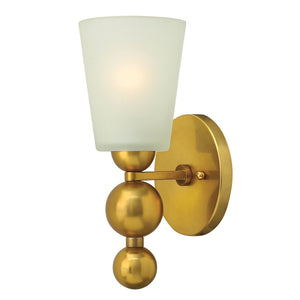Hinkely Lighting Lighting Zelda 1lt Wall Light Vintage Brass by Hinkely Lighting