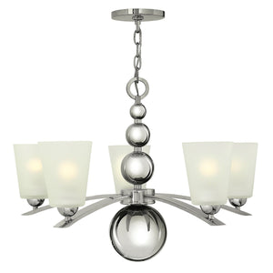 Hinkely Lighting Lighting Zelda 5lt Chandelier Polished Nickel by Hinkely Lighting