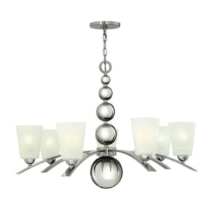 Hinkely Lighting Lighting Zelda 7lt Chandelier Polished Nickel by Hinkely Lighting