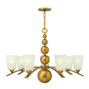 Hinkely Lighting Lighting Zelda 7lt Chandelier Vintage Brass by Hinkely Lighting