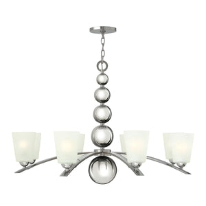 Hinkely Lighting Lighting Zelda 8lt Chandelier Polished Nickel by Hinkely Lighting