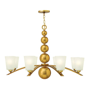 Hinkely Lighting Lighting Zelda 8lt Chandelier Vintage Brass by Hinkely Lighting