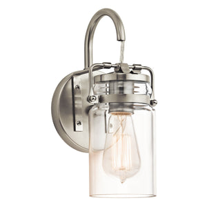 Kichler Lighting Brinley 1lt Wall Light Brushed Nickel by Kichler