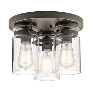 Kichler Lighting Brinley 3lt Flush Mount Olde Bronze by Kichler