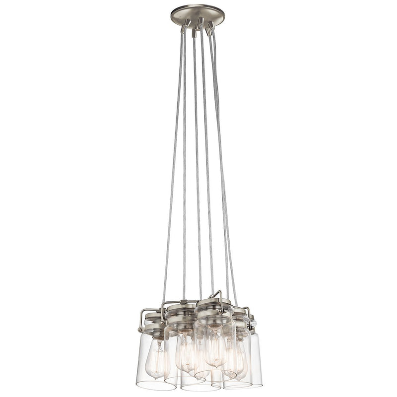 Kichler Lighting Brinley 6lt Pendant Brushed Nickel by Kichler
