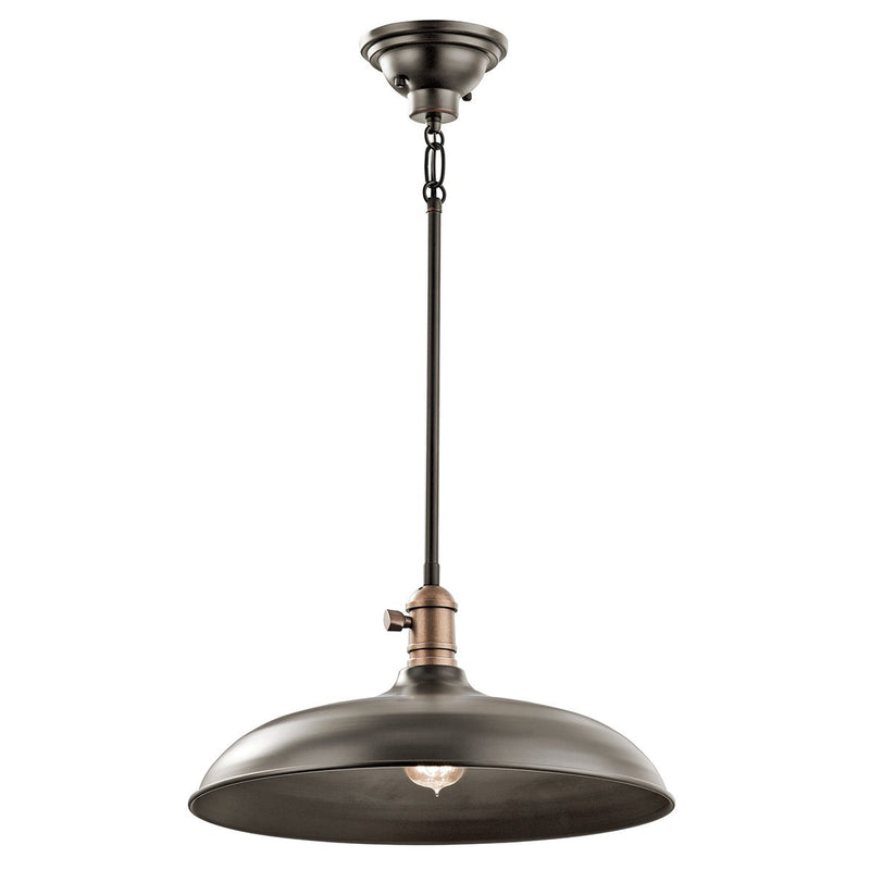 Kichler Lighting Cobson 1lt Pendant/Semi Flush Olde Bronze by Kichler
