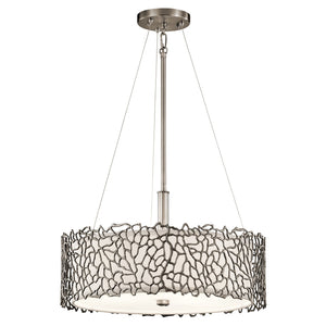 Kichler Lighting Silver Coral Duo-Mount Pendant by Kichler
