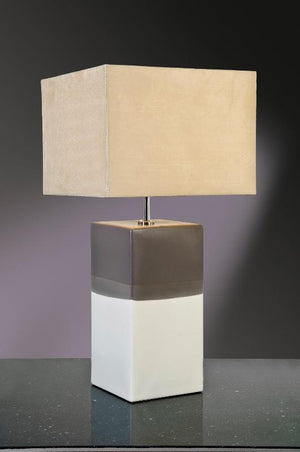 Luis Collection Lighting Alba Cream/Grey Table Lamp by Luis Collection