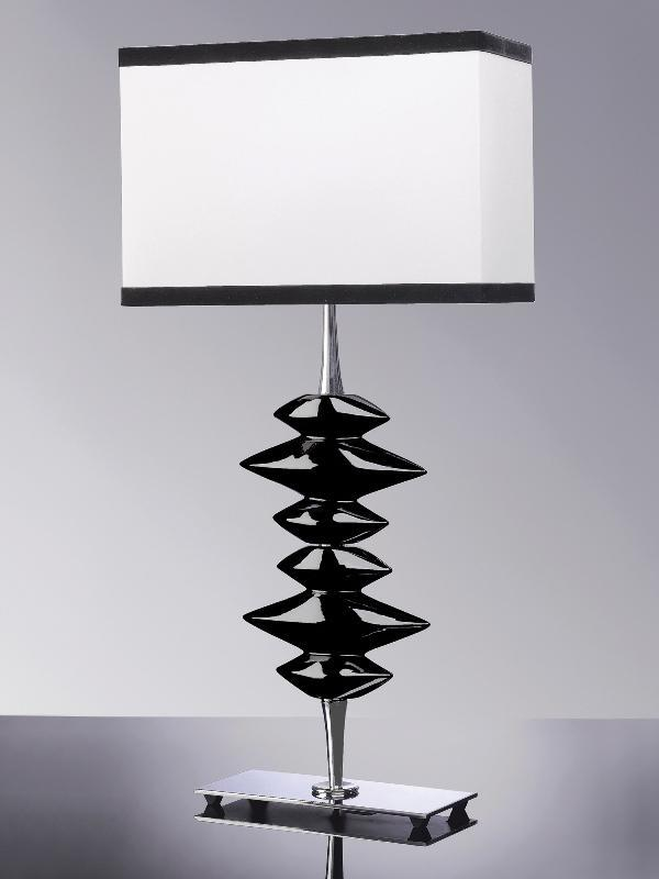 Luis Collection Lighting Alexander Black Table Lamp by Luis Collection