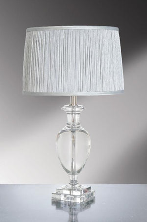 Luis Collection Lighting Antonia Clear Crystal Temple Jar Table Lamp by Luis Collection