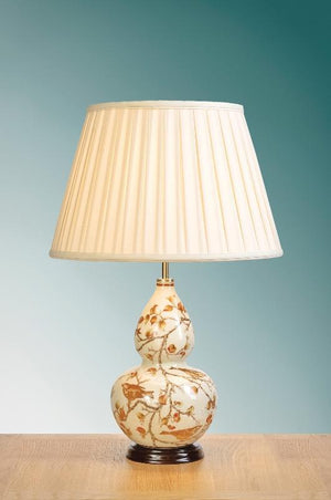 Luis Collection Lighting Autumn Leaves Gourd Table Lamp by Luis Collection