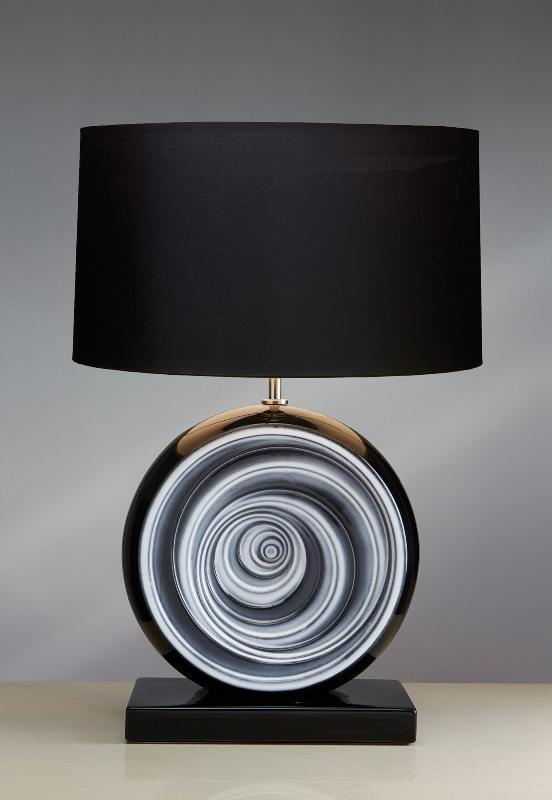 Luis Collection Lighting Black Swirl Table Lamp by Luis Collection
