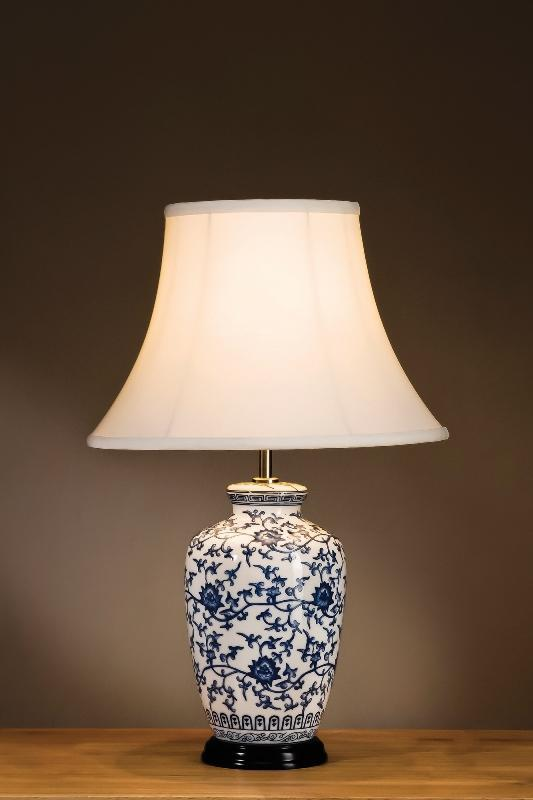 Luis Collection Lighting Blue Ginger Jar Table Lamp by Luis Collection