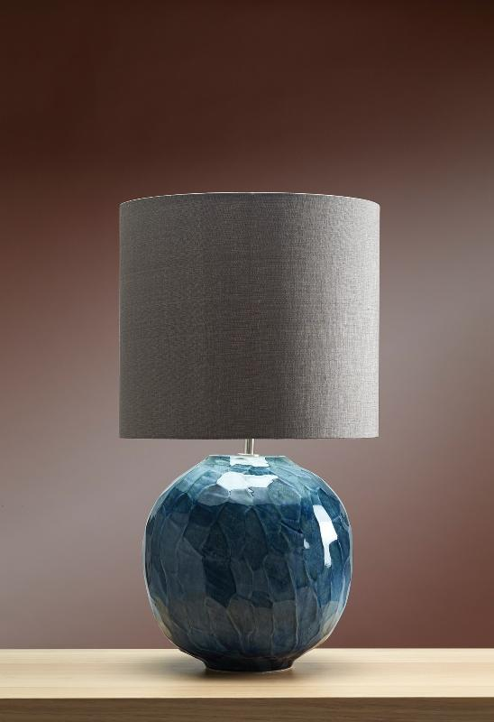 Luis Collection Lighting Blue Globe Table Lamp by Luis Collection