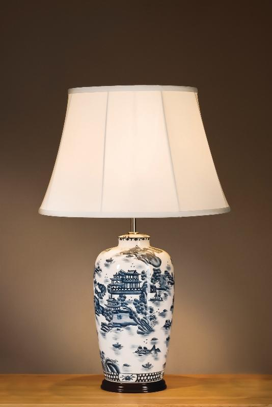 Luis Collection Lighting Blue Willow Pattern Traditional Lamp by Luis Collection
