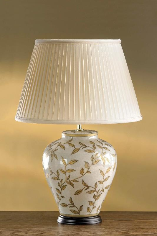 Luis Collection Lighting Brown/Gold Leaves Table Lamp by Luis Collection
