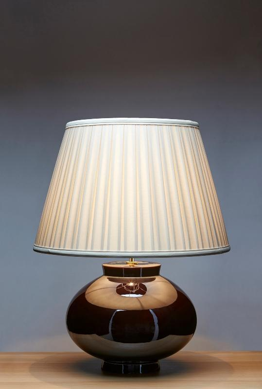 Luis Collection lighting Brown Table Lamp by Luis Collection