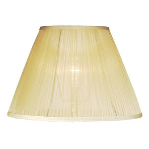 Luis Collection Lighting Champagne 36cm Chiffon Empire Shade by Luis Collection