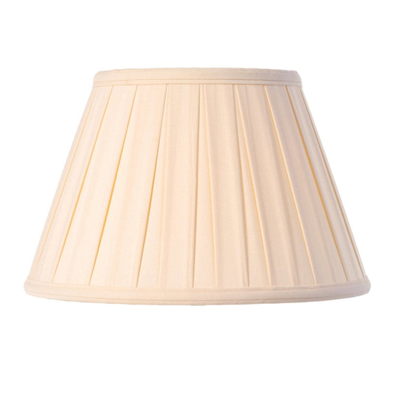 Luis Collection lighting Cotton 12in Box Pleat Oyster by Luis Collection