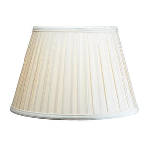 Luis Collection lighting Cotton 14in Box Pleat Oyster by Luis Collection