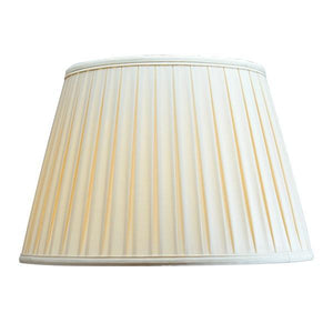 Luis Collection lighting Cotton 18in Box Pleat Oyster by Luis Collection