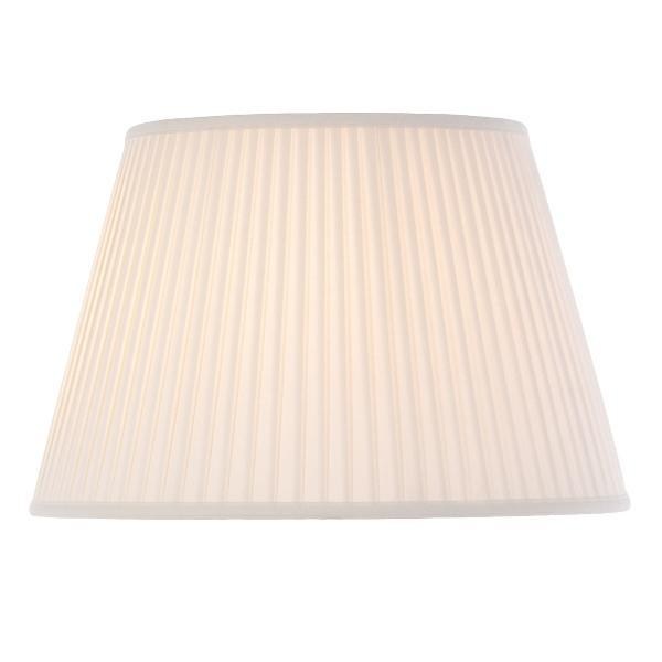 Luis Collection lighting Cotton 20in Fine Pleat Oyster by Luis Collection