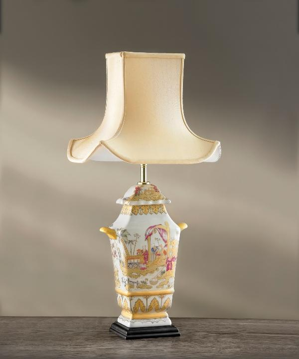 Luis Collection Lighting Painted Children Temple Jar Table Lamp by Luis Collection