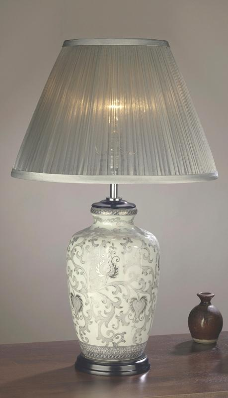 Luis Collection lighting Silver Thistle Table Lamp by Luis Collection