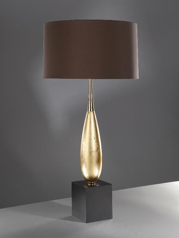 Luis Collection lighting Solomon Gold Leaf Table Lamp by Luis Collection