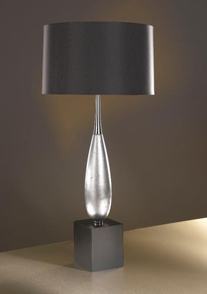 Luis Collection lighting Solomon Silver Leaf Table Lamp by Luis Collection