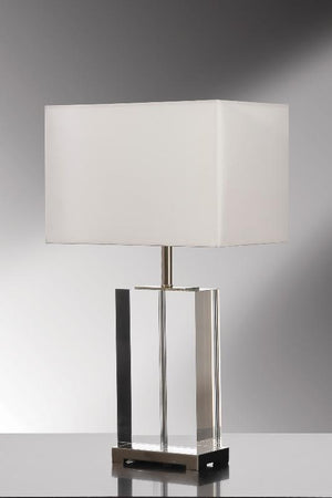 Luis Collection lighting Valentina Clear Crystal Table Lamp by Luis Collection
