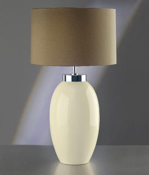 Luis Collection lighting Victor Large Cream Table Lamp by Luis Collection
