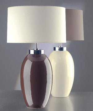 Luis Collection lighting Victor Small Brown Table Lamp by Luis Collection