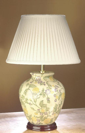 Luis Collection lighting Yellow Purple Flowers Table Lamp by Luis Collection
