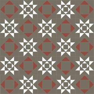 Olde English Tiles Tile Designs Olde English Rydale Anthracite/Super White/Red Floor Tiles