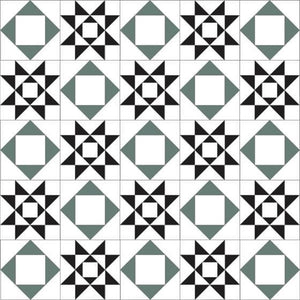Olde English Tiles Tile Designs Olde English Rydale Super White/Black/Dark Green Floor Tiles