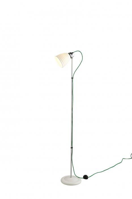 Original BTC Lighting Hector Bibendum Floor Light: White: Green Braided Cable By Original BTC