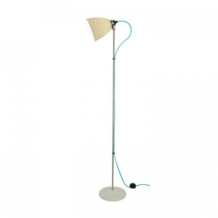 Original BTC Lighting Hector Bibendum Floor Light: White: Turquoise Braided Cable By Original BTC