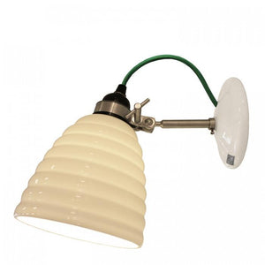 Original BTC Lighting Hector Bibendum Wall Light: White With Green Cable By Original BTC