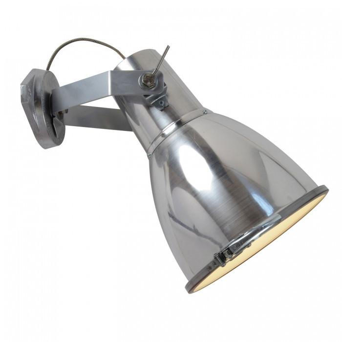 Original BTC Lighting Stirrup 3 Wall Light With Sandblasted Glass: Natural Aluminium By Original BTC
