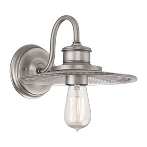 Quoizel Lighting Admiral 1lt Wall Light Antique Nickel by Quoizel