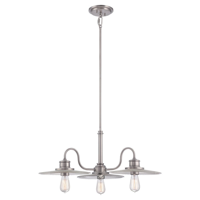Quoizel Lighting Admiral 3lt Chandelier Antique Nickel by Quoizel