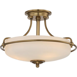 Quoizel Lighting Griffin 3lt Semi-Flush Mount by Quoizel