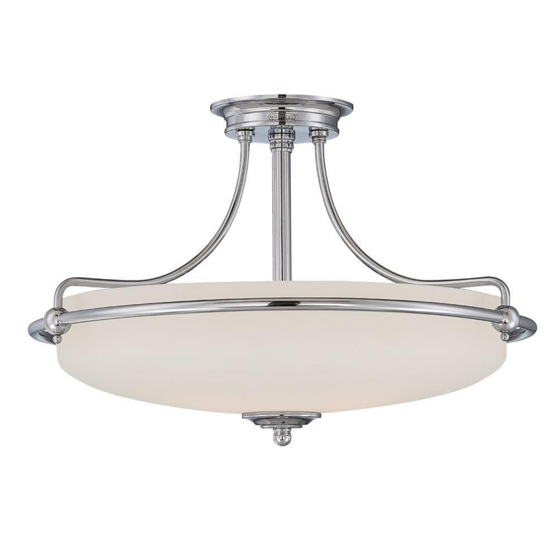 Quoizel Lighting Griffin Semi-Flush Light Antique Nickel by Quoizel