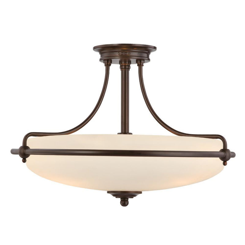 Quoizel Lighting Griffin Semi-Flush Light Palladian Bronze by Quoizel