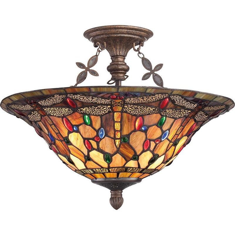 Quoizel Lighting Jewel Dragonfly Extra Large Semi Flush Mount by Quoizel