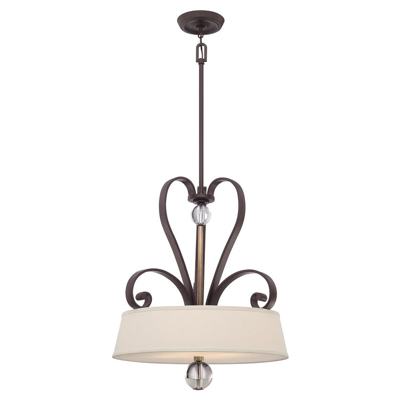 Quoizel Lighting Madison Manor 4lt Pendant Western Bronze by Quoizel